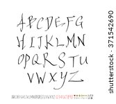 alphabet   number   handwriting ... | Shutterstock .eps vector #371542690