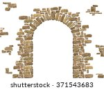 arch of stones isolated on... | Shutterstock .eps vector #371543683