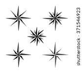 set of compass navigation... | Shutterstock .eps vector #371546923