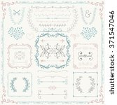 hand drawn sketched decorative ... | Shutterstock .eps vector #371547046