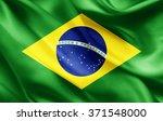 brazil  flag of silk  | Shutterstock . vector #371548000