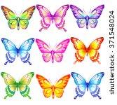butterflies design | Shutterstock .eps vector #371548024