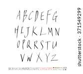 alphabet   number   handwriting ... | Shutterstock .eps vector #371549299