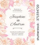 vector wedding invitation... | Shutterstock .eps vector #371554720