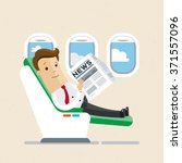 businessman or manager  sitting ... | Shutterstock .eps vector #371557096