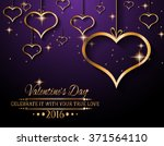 valentine's day background for... | Shutterstock . vector #371564110
