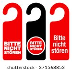 set of three red  black and... | Shutterstock .eps vector #371568853