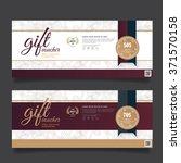 gift voucher premier gold...   Shutterstock .eps vector #371570158