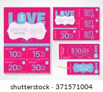sale flyer  promotions coupon... | Shutterstock .eps vector #371571004