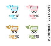 online store vector logo with...   Shutterstock .eps vector #371573059