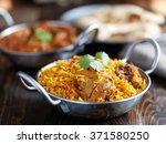balti dish with indian chicken... | Shutterstock . vector #371580250