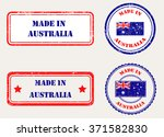 made in australia rubber stamp... | Shutterstock .eps vector #371582830