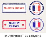 made in france rubber stamp... | Shutterstock .eps vector #371582848