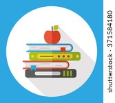 school book flat icon | Shutterstock .eps vector #371584180