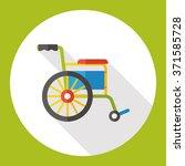 wheelchair flat icon | Shutterstock .eps vector #371585728