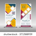 roll up banner abstract... | Shutterstock .eps vector #371588959