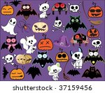 huge halloween collection | Shutterstock .eps vector #37159456