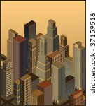 isometric city  vector | Shutterstock .eps vector #37159516