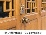 Chinese Wooden Door Lock And...
