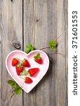 Fresh Strawberries In Heart...