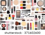 makeup cosmetics  brushes and... | Shutterstock . vector #371602600