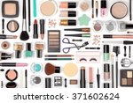 makeup cosmetics  brushes and... | Shutterstock . vector #371602624