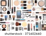 makeup cosmetics  brushes and... | Shutterstock . vector #371602660