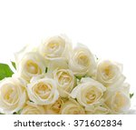Stock photo set of bouquet white rose 371602834