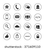 web  communication black and... | Shutterstock .eps vector #371609110