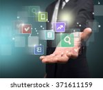 technology. | Shutterstock . vector #371611159