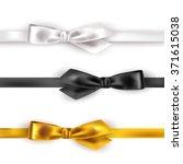 set of satin ribbon on white... | Shutterstock .eps vector #371615038