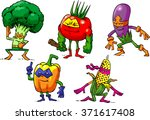 illustration with a series of... | Shutterstock .eps vector #371617408