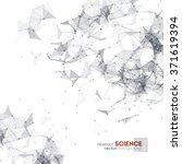 wireframe mesh polygonal... | Shutterstock .eps vector #371619394