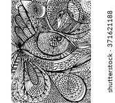 zentangle_eye | Shutterstock .eps vector #371621188