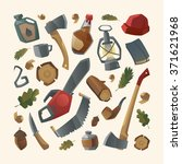 collection of lumberjack things ... | Shutterstock .eps vector #371621968