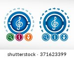 treble clef  icon and creative... | Shutterstock .eps vector #371623399