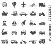 transportation black icons set... | Shutterstock .eps vector #371623834