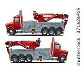 heavy duty rotator tow truck.... | Shutterstock .eps vector #371626429
