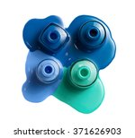 4 color nail polish isolated on ... | Shutterstock . vector #371626903