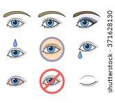Icons Of Eyes. Make Up And Eye...