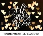happy valentines day... | Shutterstock .eps vector #371628940