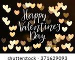 happy valentines day... | Shutterstock .eps vector #371629093