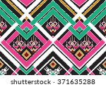 geometric ethnic pattern... | Shutterstock .eps vector #371635288