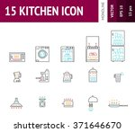 15 kitchens icon with vector of ...