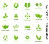 ecology icon set on white... | Shutterstock .eps vector #371650798