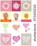 collection of greeting cards... | Shutterstock .eps vector #371653210