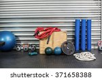 view of fitness equipment at... | Shutterstock . vector #371658388