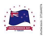 6th february newzealand... | Shutterstock .eps vector #371664076