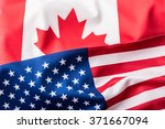 usa and canada flag. | Shutterstock . vector #371667094