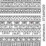 seamless ethnic geometric... | Shutterstock .eps vector #371669320
